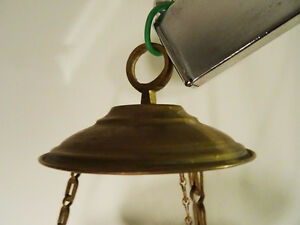 antique MOROCCAN HANGING LANTERN pierced filigree brass PERSIAN Kitchener / Waterloo Kitchener Area image 10