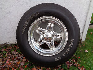 set of 4 custom rims & tires for Dodge Ram 1500