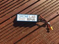 Drone Lab Professional LiPo Battery 1800mAh 4s 50-100c. Drone, RC