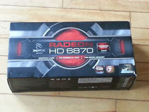 2x Radeon HD 6870 Graphics Cards $50 each or $100 for both.