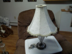 Table Lamp And Shade.