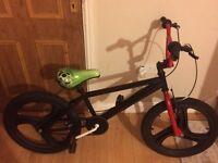 Black and red bmx