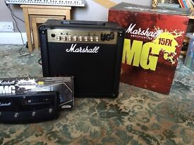 Marshall mg15 fx with foot switch