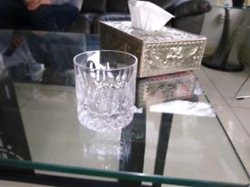 6 three inch tyrone crystal glasses
