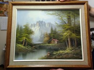 Beautiful mountain scenery in this print