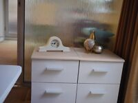 Beautiful shabby chic side tables pair