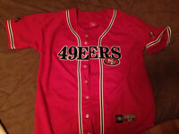 49ers Medium Jersey Style Shirt (MINT Condition)