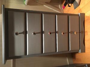 Tall boy dresser drawers grey