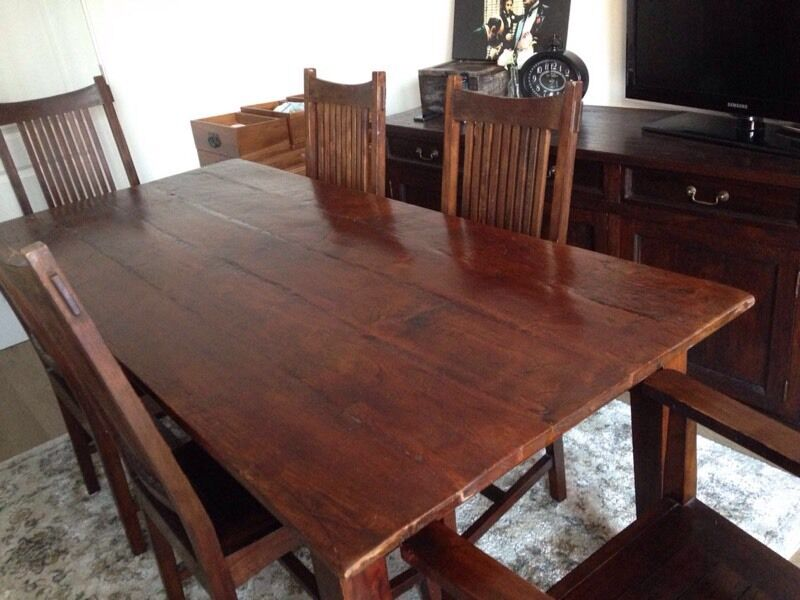 Lombok Dark Teak Malang Dining Table