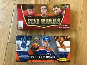 Connor Mcdavid and Star rookies sets hockey cards