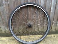 Rear back wheel rim tyre road bike 700x32, 7 speed