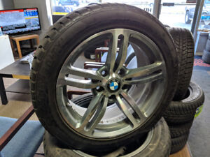 BMW RIMS WITH 225/50R17  WITH WINTER TIRES
