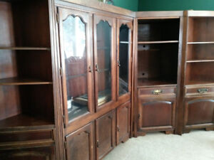 Solid wood wall unit (Still Available)