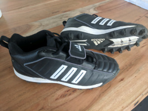 Adidas men's cleats , size 12, used only once - $15 obo