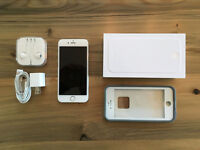 iPhone 6 - 128 GB, Silver, Unlocked, w/ AppleCare+ & Case