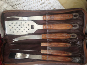 BBQ Utensils plus free Cedar Planks
