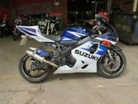 2004 SUZUKI GSXR750 GSXR 750 BLUE WHITE NATIONWIDE DELIVERY AVAILABLE