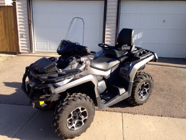 "Used 2014 Can-Am Outlander 650 XT DPS with 60"" Snow Blade"