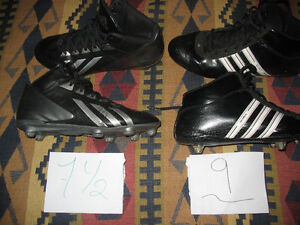 Spikes Adidas size 9 et size 7 1/2
