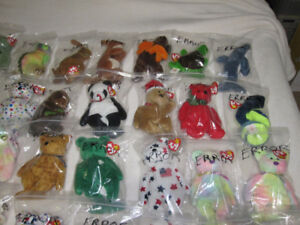 Over 50 Assorted ERROR Beanie Babies-All Brand New
