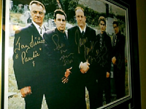 The Sopranos Cast Signed frame and prop