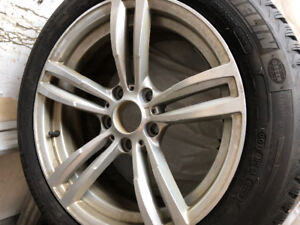 BMW 428I  Four Michelin Alpin  225/50R 17 snow tires on rims