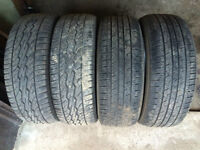 4 ALL SEASON TIRES 225/60/17 KUMHO SOLUS & DUNLOP SIGNATURE