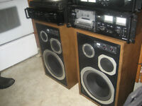 Sansui   3 way speakers    DR Turntable (The Dr is in)