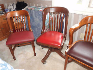 Group 2: antique / vintage office chairs restored / leather