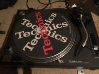 Technics 1210 mk2 turntable pair, Numark mixer and pioneer stereo