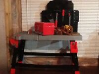Kids tool bench with assessories