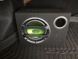 "10"" Fusion Sub Woofer and amp $200 firm"