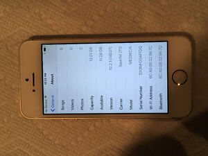 Perfect apple iPhone 5s gold/white *Sasktel no contract