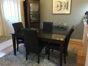 Black Granite Dining Room suite