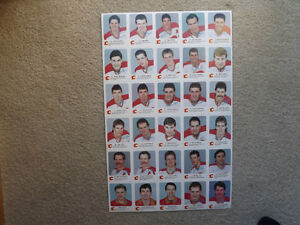"FS: 1987-88 ""Calgary Flames"" Red Rooster Un-Cut Sheet Set London Ontario image 1"
