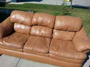 Beautiful Brown 3 Person Leather Couch