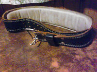 leather weight-lifting belt