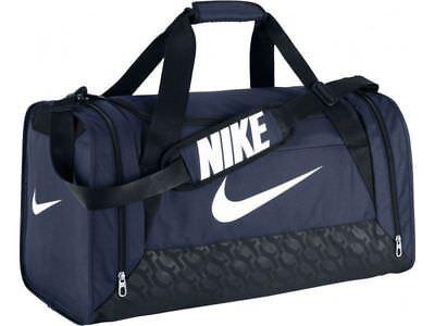 7203ac890cf0f Nike Brasilia 6 MEDIUM Duffel Bag BA4829 401 Gym Travel Navy Blue Black NWT