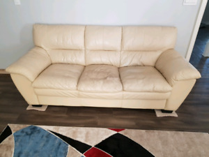 Leather sofa *make and offer*
