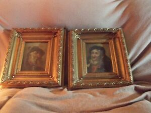 SET OF C. HUBER PAINTINGS FROM THE 1852