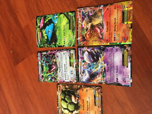 Pokémon cards secret rares, mega's, level x's, breaks and ex's