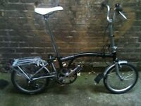 Brompton M3L 3 speed folding bicycle with extras + new parts WORLDWIDE SHIPPING