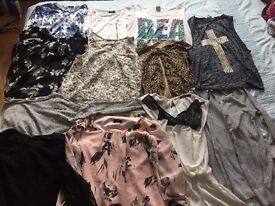 Bundle of tops sizes 6 8 10
