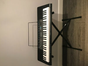 61 Key CASIO CTK2550 portable keyboard piano w/ stand almost new