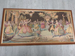 French Style Tapestry Wall Art already framed and ready to hang