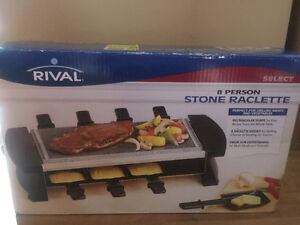 RIVAL 8 PERSON STONE RACLETTE