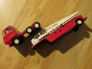 TONKA Vintage Metal Red Fire Truck Toy Car Diecast 1970s