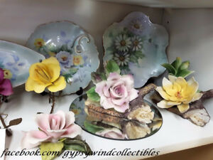 CAPODIMONTE FLOWERS & CANDLE HOLDERS ASSORTED PRICES ITALY