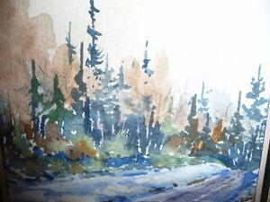 "Myrna Wilkinson ""Winter Shadows"" Original Small Watercolor Stratford Kitchener Area image 3"