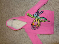 Children's Place Fur Lined Zip Up Hoodie, Girls size 12 months